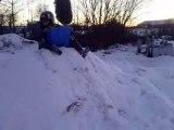 gamelle hilarente en pleine neige