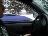 Ben sur le circuit glace à Flaine,décembre 2009,vidéo 1