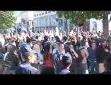 Manifestation bloquant la caravane de l'UMP à Lyon