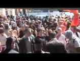 Blocage de la caravane UMP place Bellecour