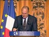Remise des premiers prix de la Fondation Chirac