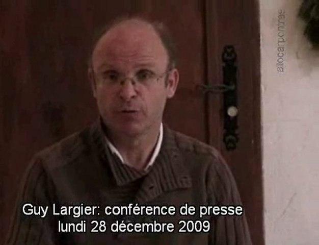 Conférence de presse de Guy Largier- Retrait délégation