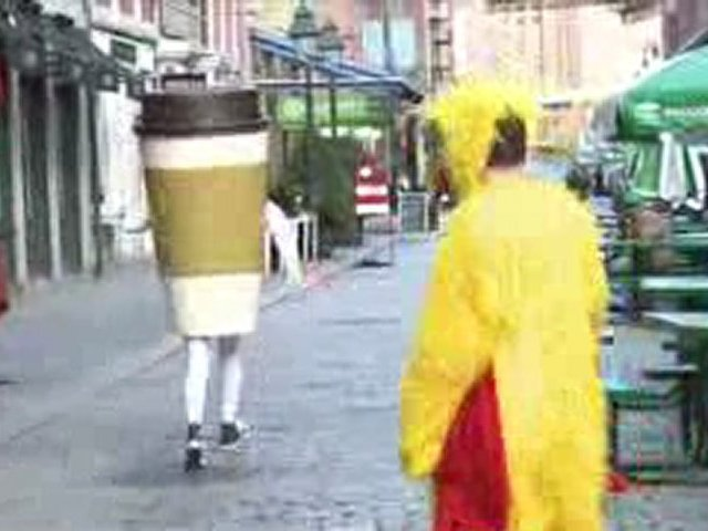 Giant Coffee Cup Attacks Tourists