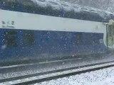 TRAIN DANS LA NEIGE 10  TRAIN IN THE SNOW