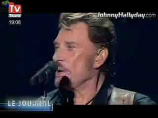 johnny hallyday 16.12.2009 t.v tours (le journal)
