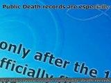 Public Death Records - Find Death REcerds