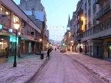 La neige toujours à Caen ce 8 janvier