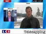 Télézapping : Il neige, les journalistes souffrent