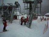 video départ au télésiège gr K mercredi 13 janvier 2010