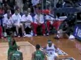 NBA Josh Smith throws down a huge dunk served up by Joe John