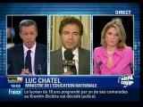 Luc Chatel sur BFM TV - Lycée Darius Milhaud - 9 janv. 2010