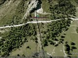 Le Funival de Val d'Isère vu avec Google Earth