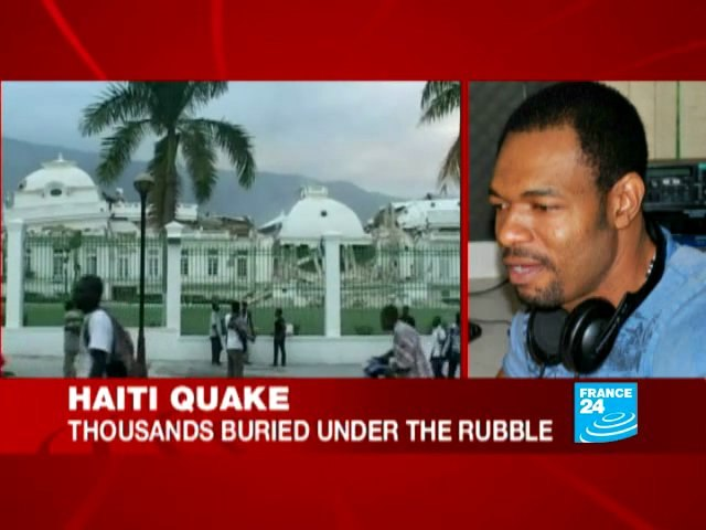 Haiti quake: With journalist James LEGER