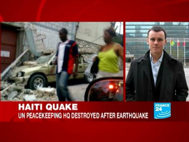 Haiti quake: UN peacekeeping HQ destroyed