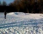 hpi Savage xl et t2m monster blitz dans la neige a élinghen