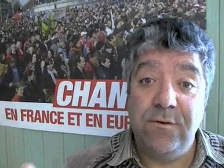 Antoine FATIGA  tête de liste du FRONT de GAUCHE en Savoie