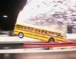 Schoolbus wheelie