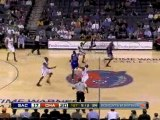 Kevin Martin saves the ball from going out of bounds to Tyre