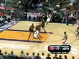 Monta Ellis spins around Luol Deng and finishes with a lay u