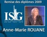 Remise des diplômes ISG 2009 - Discours d'Anne-Marie Rouane