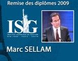 Remise de diplômes ISG 2009 - Discours de Marc Sellam