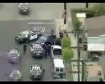 Poursuite police et interpellation .Los Angeles