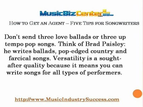How to Get an Agent - Five Tips for Songwriters