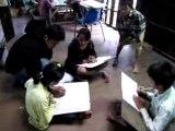 Cours de dessins à Phare, Battambang, Cambodge