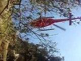 Exercice Hélico GRIMP 83 Canyon de ST MARTIN 21 janvier 2010