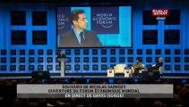 Le 18h,Suivez en direct le discours de Nicolas Sarkozy depuis le forum de Davos