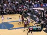 JaVale McGee blocks two straight shots during the second qua