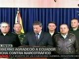 Colombia reconoce a Ecuador su lucha contra el narcotráfico