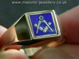 Gold Masonic ring - Reversible DAJ111