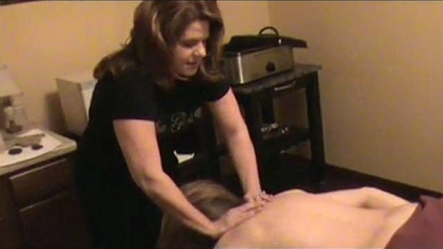 demonstration of hot rock massage, evansville