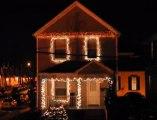 Décorations de Noël sur des rythmes électro