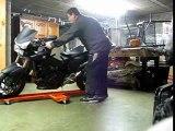 Rail de rangement moto Tourne moto