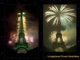 Feu d'artifice à la tour Eiffel à Paris