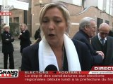 Régionales 2010 : FN, Marine Le Pen fait sa liste (Nord)