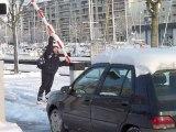 Caen sous la neige, ce jeudi 11 Fevrier