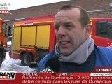 Un Incendie ravage une usine de Roubaix
