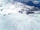 Ski piste noire le Corbier les Sybelles en camera embarquée