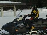Plateau de Beille : moto des neiges