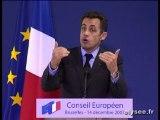 Conférence presse lors du Conseil européen de Bruxelles