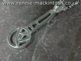 Sterling silver Charles Rennie Mackintosh necklace DWA346