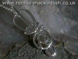 Sterling silver Charles Rennie Mackintosh necklace DWO912