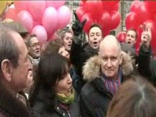 Campagne Régionales : Lâcher de Ballons Place de la République