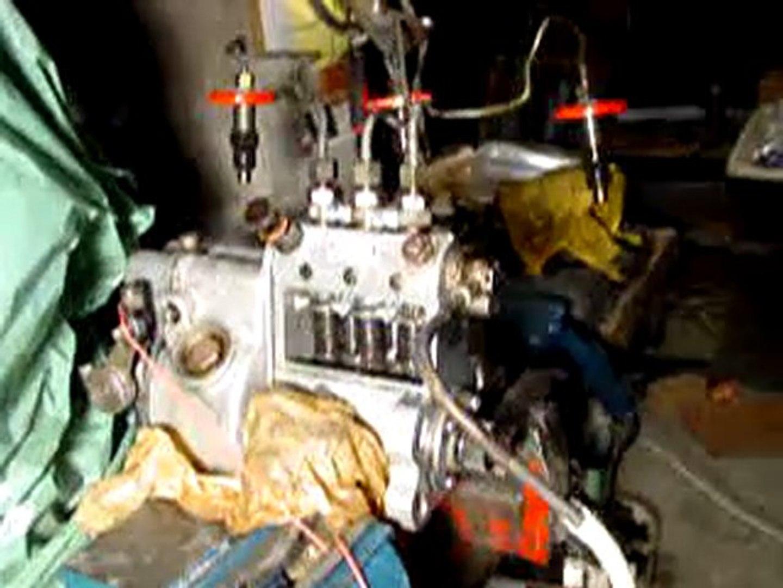 réglage et fonctionnement pompe injection en ligne