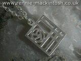 Sterling silver Charles Rennie Mackintosh necklace DWA349