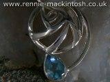 Sterling silver Charles Rennie Mackintosh necklace DWA323
