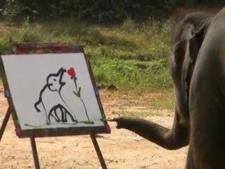 elephants peintres en thailande